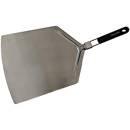 Checkered Chef Pizza Peel Extra Large Pizza Paddle Stainless Steel With Folding Handle