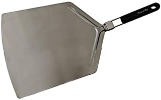 Checkered Chef Pizza Paddle - Large Stainless Steel Peel w/Folding Handle - 13 Inch x 15 Inch