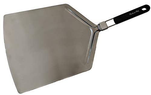 commercial Chef Pizza Peel Oversized Stainless Steel Pizza Paddle with Folding Handle pizza peels