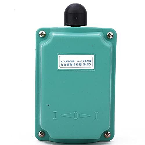 Interruptor de avance y retroceso, modelo QS 60 Modelo QS 60 Interruptor de voltaje de 380 V con mango de carcasa de plástico para monofásico(QS-60)