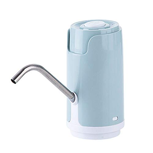 HUIHUAN Bomba de Agua Eléctrica Beber Botella Automática Dispensador de Botón Portátil para la Oficina de la Cocina Embotellado Puro Puro Dispositivo de Presión Doméstica,Blue