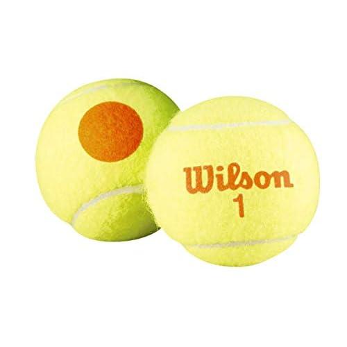 Wilson Starter Orange, Palline da Tennis Unisex-Bambini, Giallo/Arancione, 12