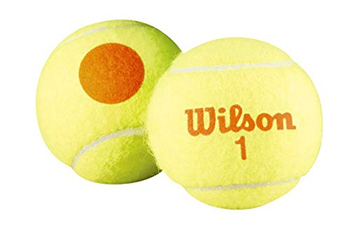 Balles de Tennis Wilson, Starter Orange, Paquet de 3, Jaune/Orange, pour les Enfants, WRT137300