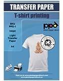 PPD A4 Carta Trasferibile Termoadesiva Per Stampanti A Getto D'Inchiostro Inkjet - T-Shirt E Tessuti Di Colore Chiaro x 10 Fogli - PPD-1-10