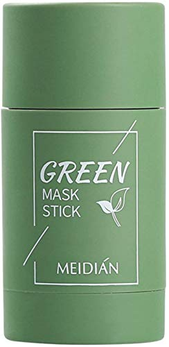 Wcjing Green Tea Purifying Clay Face Mask Stick Deep Cleansing Oil Control Anti-Acne Solid Mask, Eggplant Hydrating Blackhead Remover Facial Mask Repair and Shrink Pores (Green Tea)