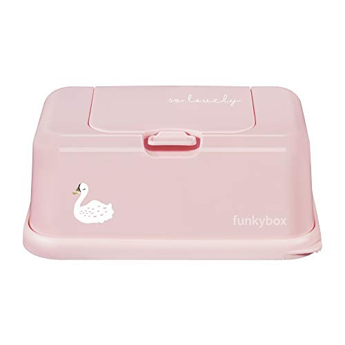 Funky Box FB29 so lovely Swan Dispensador para Toallitas, Rosa (Blush Pink)