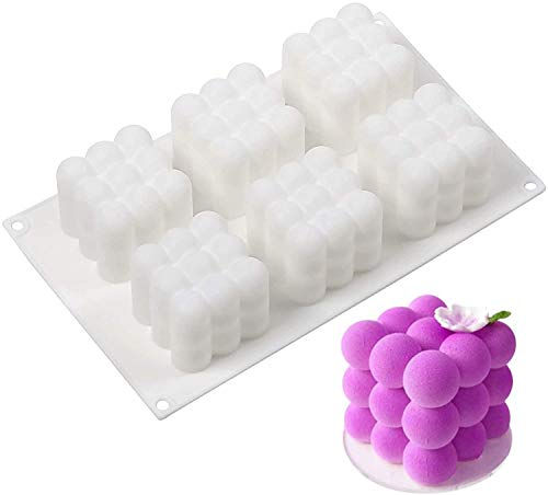 3D Rubik Cube Cake Molds - Silicone Mold for Baking Mousse Cake Mold Dessert Molds for Candy Chocolate Dessert Cheesecake Fondant I ce Cream Wedding Valentines Day…