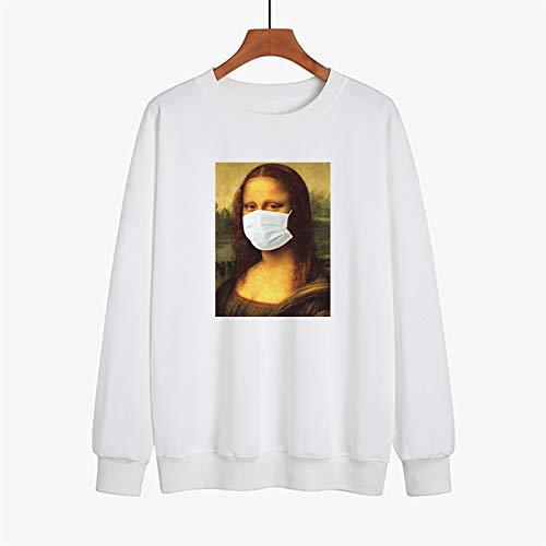 2021 Men's and Women's Hooded Sweatshirts Fashionable and Interesting 2020 Coronavirus Survivors Memorial Theme Hooded Sweater,B White,L