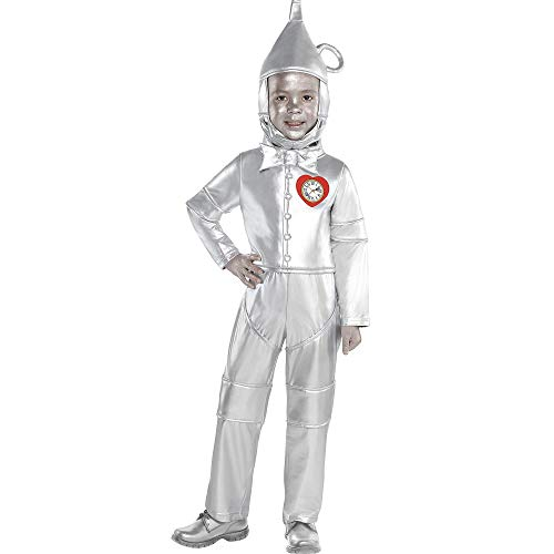 Suit Yourself Tin Man Halloween Costume for Toddler Boys, The Wizard of Oz, 3-4T, Includes Jumpsuit and Headpiece