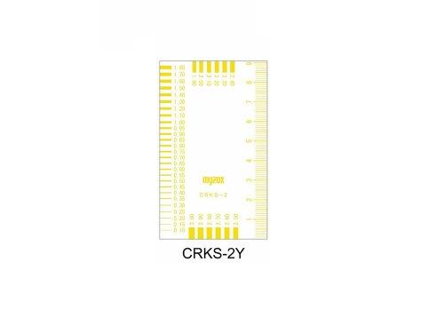 マイゾックス クラックスケール CRKS-2Y 黄