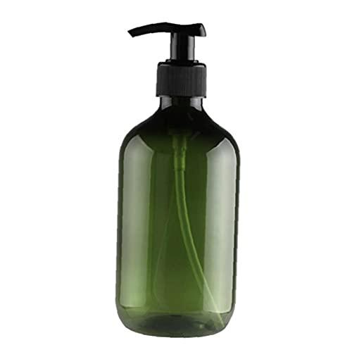 BRAVOSOLEIL Vide Flacon Pompe Lotion Shampooing Liquide Rechargeables Distributeur Gel Douche 300ml Container Vert