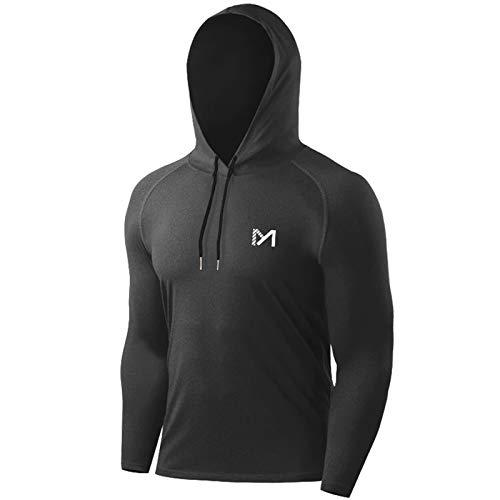 MEETYOO Magliette Uomo, Maglie a Maniche Lunghe T Shirt Sportiva per Corsa Fitness Gym