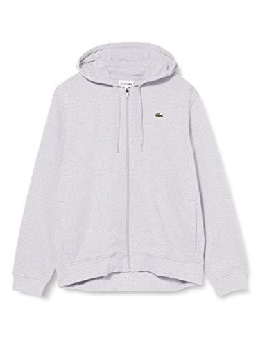 Lacoste Sport Sweatshirt, Homme, SH1551, Argent Chine/Elephant, L