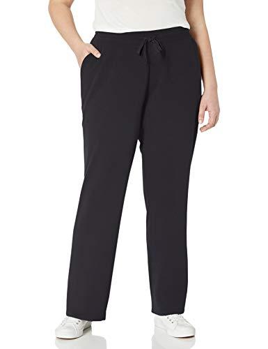 Amazon Essentials Pantalones de Felpa Francesa, Talla Grande athletic-pants, Negro, 3X