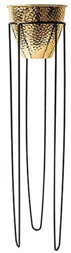 chishizhenxiang Jardinière en Fer forgé, Jardinière, Jardinière laquée Verte, Intérieur du Balcon, Salon européen Minimaliste (Taille, D), E