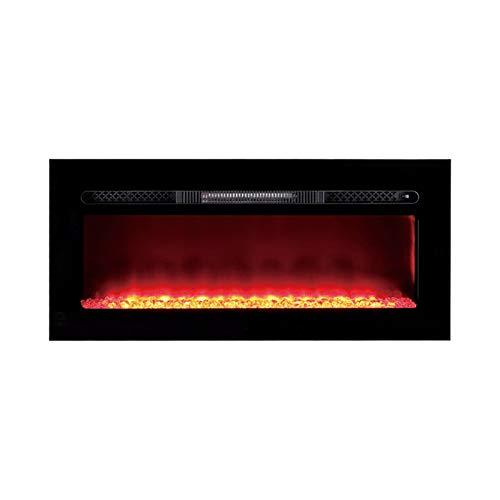 RKRLJX Chimenea eléctrica del inserto de la chimenea eléctrica con el efecto de la llama del fuego Chimenea decorativa de tres colores de la llama adaptable