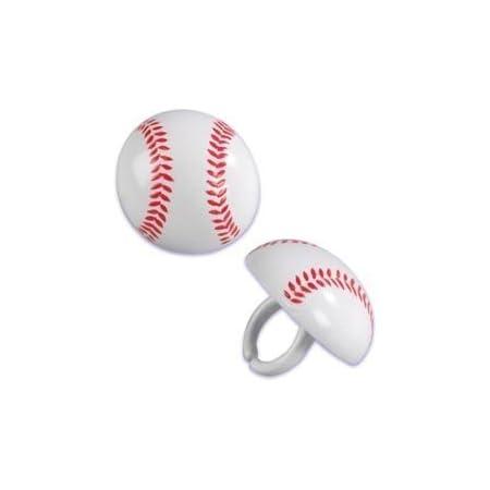 Baseball Cupcake Picks 24-Pack