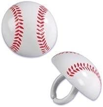 Baseball Cupcake Rings (24-Pack)
