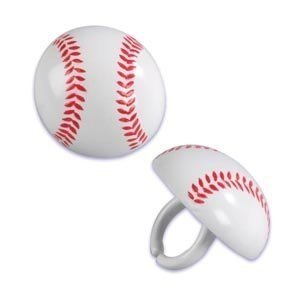 Baseball Cupcake Rings (24-Pack)