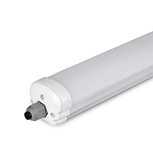 V-TAC VT-1239 LED Lampe, Kunststoff (ABS) + Polycarbonat, T5, 36 W, weiß, Hauteur x Largeur x Profondeur : 1200 mm x 86 mm x 72 mm