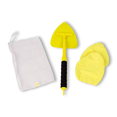 Invisible Glass 95160 2-Piece Reach and Clean Tool is The Perfect Window and Windshield Wand Glass Cleaning Tool for Those Hard-to-Reach Places in Your Car and Home Washable Reversible and Extendable