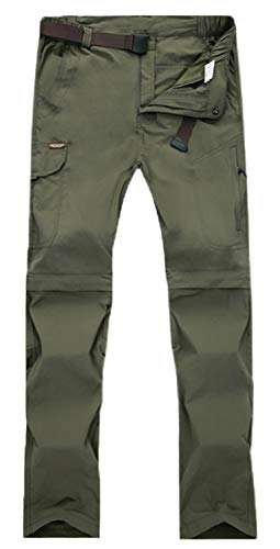 Women's Lightweight Quick Dry Cargo Convertible Hiking Tactical Pants with Pocket, Women Army Green, Tag S = US 2