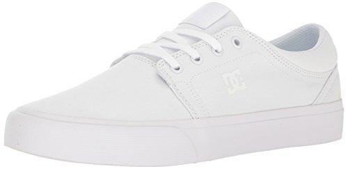 DC mens Dc Women's Trase Tx Skateboarding Shoe, White/White/White, 8.5 US