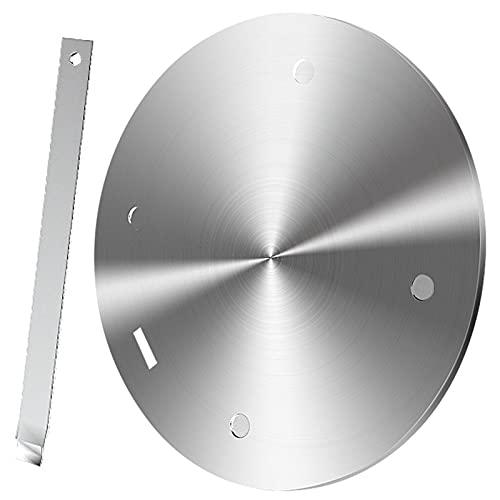 SHDT Placa De Anillo Difusor De Calor por Inducción, Placa Adaptadora De Inducción con Mango Separable, Placa De Calor De Conducción Uniforme para Estufa Eléctrica De Gas,24CM