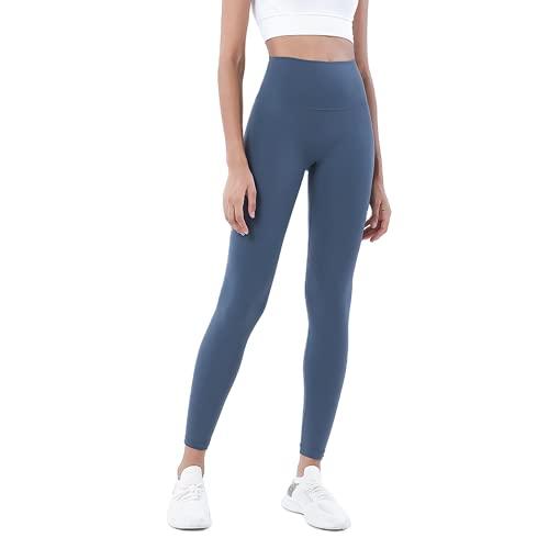 QTJY Pantalones de Yoga para Mujeres Desnudas Suaves, Cintura Alta, Levantamiento de Cadera, Pantalones elásticos de Secado rápido, para Correr al Aire Libre, CS