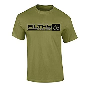 Filthy Anglers Men s Fishing T-Shirt Military Style Print  Small Military Green