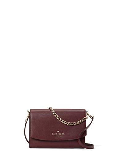 Kate Spade New York Carson Leather Convertible Crossbody Shoulder Bag Handbag, Cherrywood