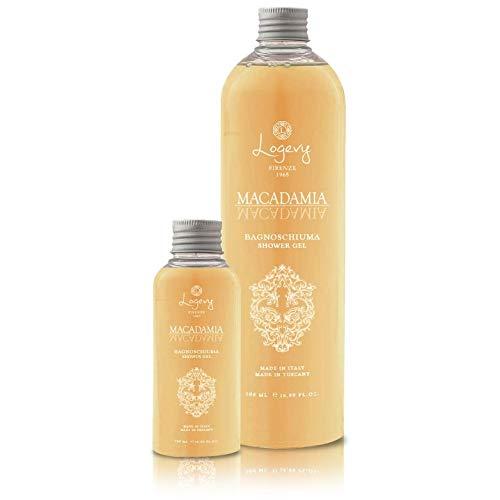 LOGEVY - Gel douche - 2 Paquets de 100 ml - Rend votre peau douce et hydratée - Macadamia