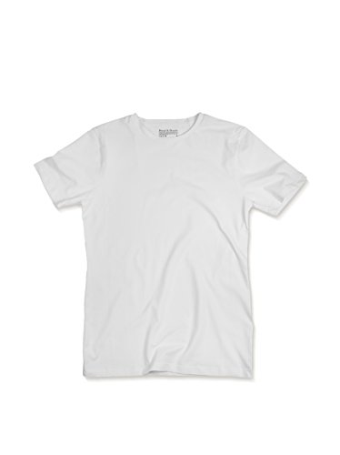 Bread and Boxers Crew Neck Cotton Blend T-Shirt (BNBUS106) XL/White Traditional