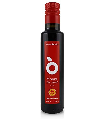 La Redonda - Sherry-Essig g. U. –Gourmetqualität - Auf traditionelle Art im Barrique gealtert– 250 ml – Glasflasche