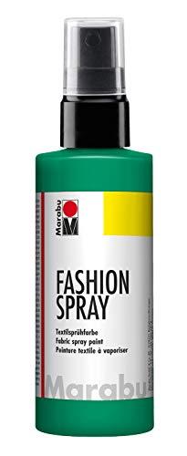 Marabu 17190050153 - Fashion Spray minze 100 ml, Textilsprühfarbe, m. Pumpzerstäuber, für helle Textilien, weicher Griff, einfache Fixierung, waschbeständig bis 40°C, tolle Effekte auf Stoff