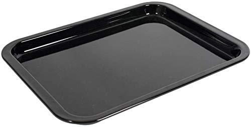 Utiz Emailliertes flaches Backblech, 417 mm x 300 mm x 21 mm, für AEG Bosch Zanussi Beko Samsung Gas- und Konvektionsherde