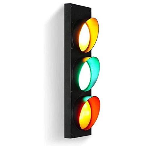 Creative Verkeerslichten Lichten Teken Ijzer, Decoratieve Rode En Groene LED Waarschuwingslichten Wandlamp Uitstekende Muur Windindustrie Bar Restaurant