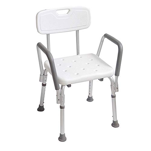 HENGMEI Tabouret de Douche Ergonomique réglable Chaise de Douche tabouret de bain avec pieds Antidérapant (Modèle C)