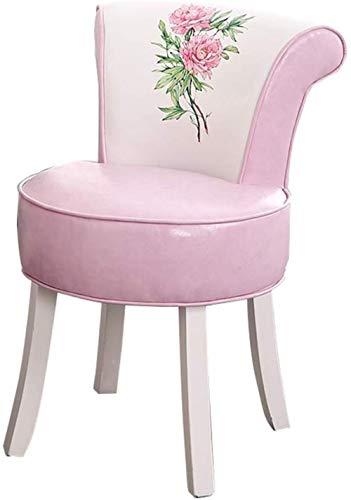 GXT Taburete de madera maciza para la parte trasera de la sala de estar o sofá taburete pequeño (color: E)