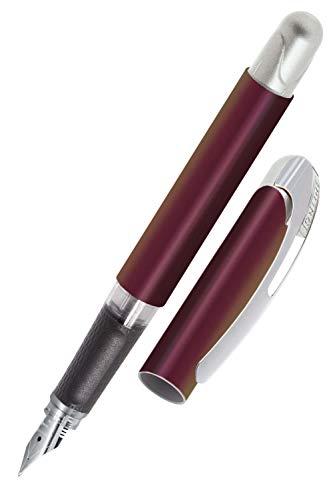 ONLINE College Secrets - Pluma estilográfica para diestros (punta de iridio mediana, cartuchos de tinta estándar, incluye cartucho azul combinado, apto para alérgicos)