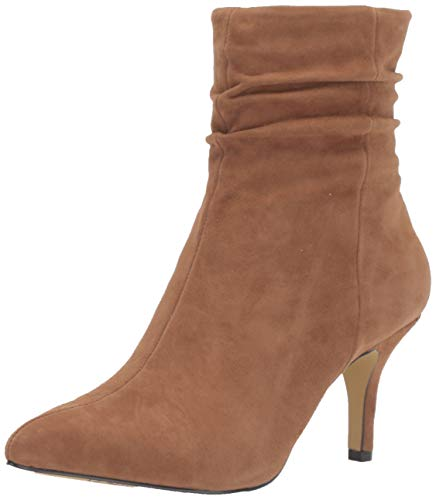 Bella Vita Women's Danielle Dress Bootie Ankle Boot, Saddle Suede Leather, 12 2W US