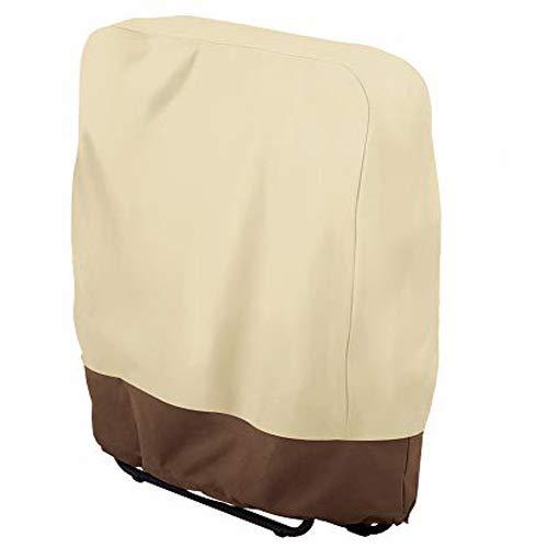 Funda plegable para silla reclinable para balcón, resistente al viento, impermeable, anti-UV, gravedad cero, veranda, jardín, plegable, para proteger muebles de jardín (1 unidad)