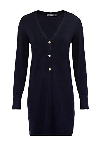 HALLHUBER Long-Cardigan mit Metallknöpfen gerade geschnitten dunkelblau, XL
