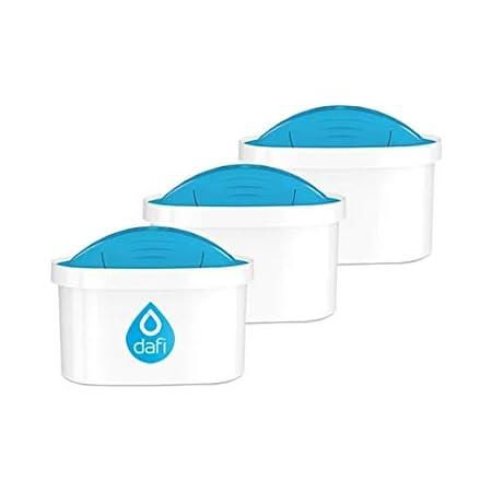 Pack de 3 Dafi Unimax Cartouches Magnésium compatibles avec Brita Maxtra & Dafi Unimax carafes filtrantes
