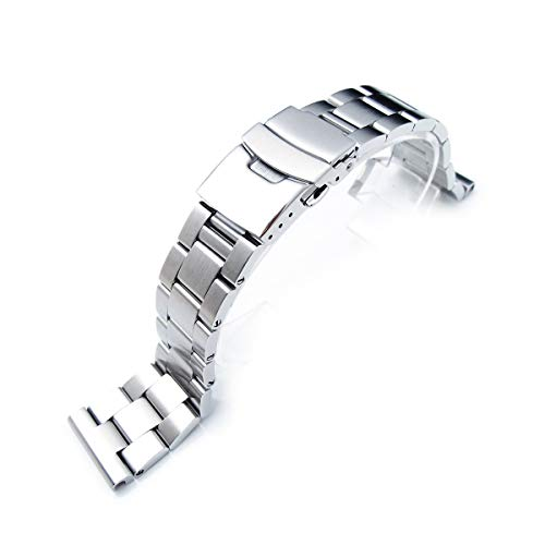 22mm Super-O Boyer watch bracelet for diver watch, universal straight end