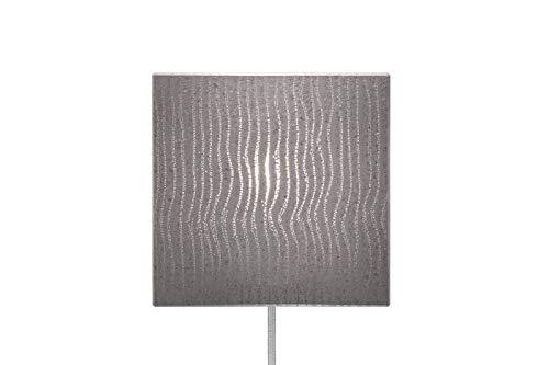 Lichtbeton wandlamp met extra lange design-textielkabel, wandlamp, lucem wit, vierkant, indirect licht binnen, 18x18 cm, 5 m textielkabel met bakeliet-schakelaar, licht warmwit, E27