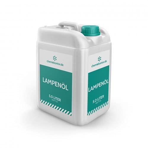 chemiekontor.de Lampenöl   nahezu Geruch- und rußfreie Verbrennung   Premium-Qualität Größe 5 Liter