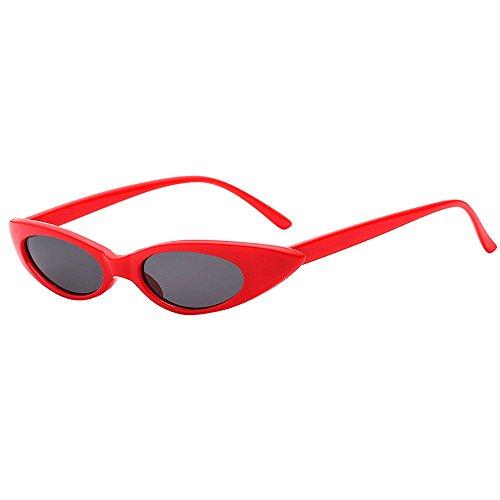Topgrowth Gafas de sol de mujer retro ojo de gato unisex Cantante Rap tonos ovalados gafas vintage Eyewear