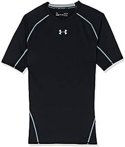Under Armour UA Heatgear Short Sleeve Camiseta, Hombre, Negro (Black/Steel (001), L