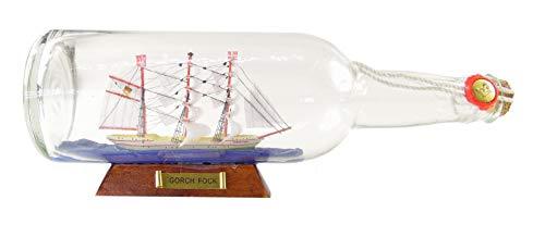 osters muschel-sammler-shop Buddelschiff Gorch Fock 28x11x8cm ┼ Modellsegelschiff ┼ Traditionssegler